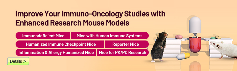 Improve Your Immuno-Oncology Studies with Enhanced Research Mouse Models | Cyagen Korea